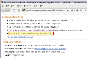 Panasonic Blu-Ray Listing