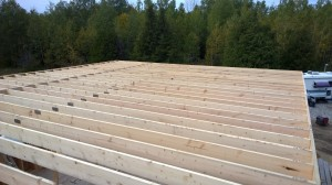 Completed Attic Joists