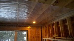 Starting the ceiling vapour barrier