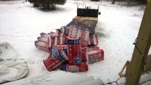 Attic insulation getting delivered