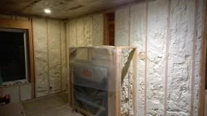 Living Room spray foam