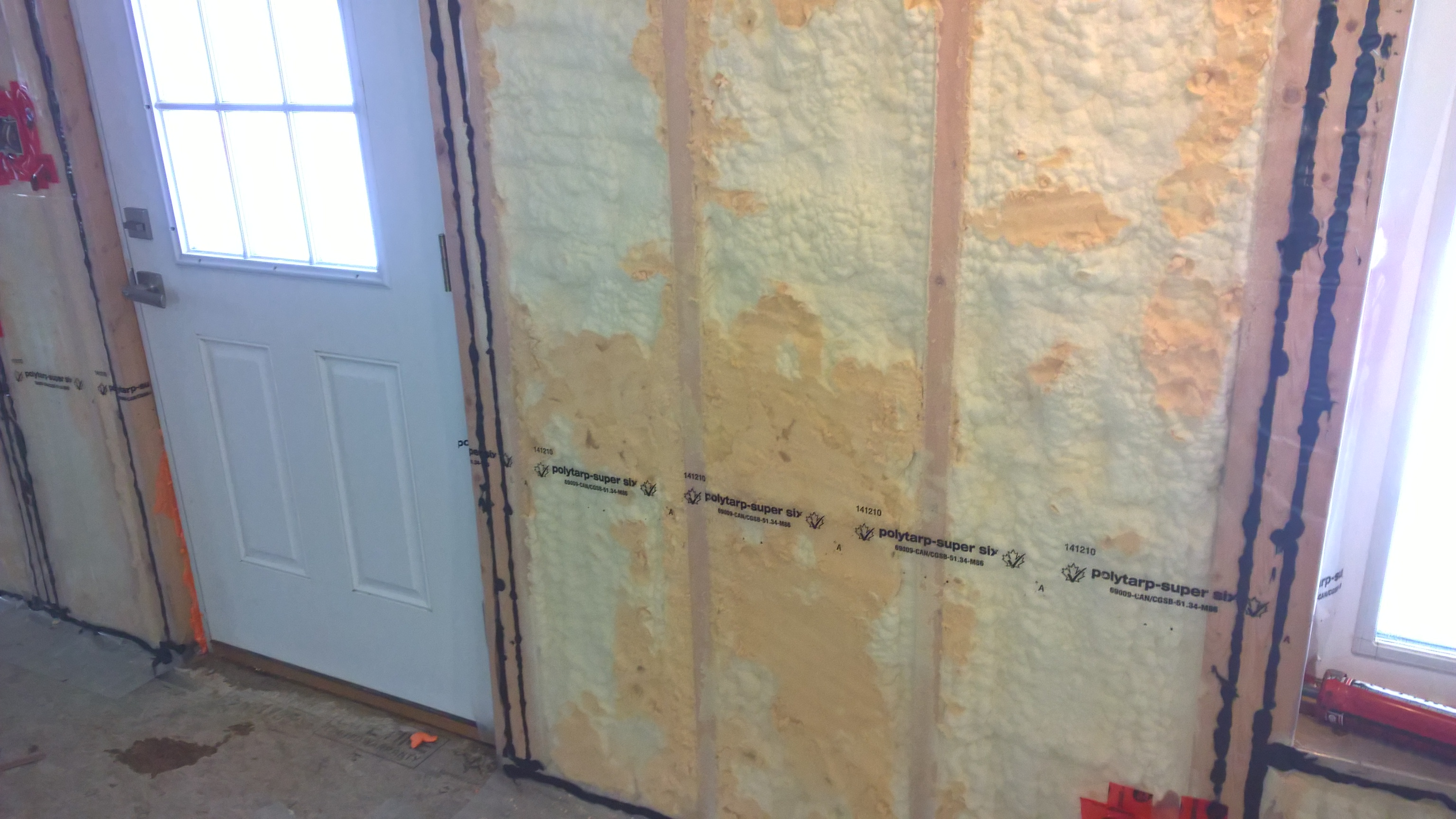 Drywall Moisture Barrier : Vapour barrier installation heather mark ross