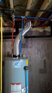 Hot water heater connected!