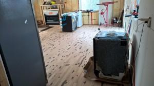 Continuation of hardwood floor