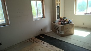 Finished master bedroom drywall