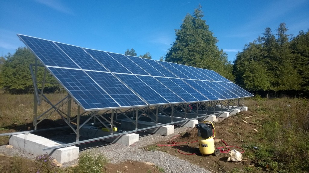 Solar panels all installed!