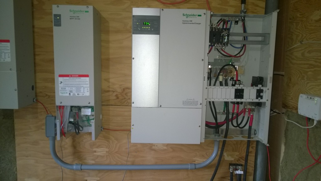First charge controller wired into distribution panel