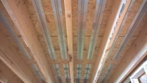 Joist Trak radiant heat panels